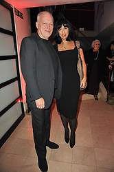 DAVID GILMOUR and POLLY SAMSON at the Costa Book Awards 2010 held at Quaglino's, 16 Bury Street, London on 25th January 2011.
