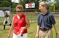 Governor Lynch visits Laconia's Colby Field for state championship Little League games.
