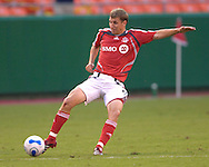 July 1, 2007 - Kansas City, MO..Toronto FC midfielder Ronnie O'Brien #5 in action against the Kansas City Wizards at Arrowhead Stadium in Kansas City, Missouri on July 1, 2007...MLS:  The Toronto FC and the Wizards finished with a 1-1 tie.  Photo by Peter G. Aiken / Cal Sport Media