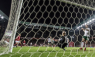 FOOTBALL: Darren Randolph (Ireland) saves af shot from Andreas Cornelius (Denmark) during the World Cup 2018 UEFA Play-off match, first leg, between Denmark and the Republic of Ireland at Parken Stadium on November 11, 2017 in Copenhagen, Denmark. Photo by: Claus Birch / ClausBirch.dk.