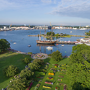 The Oliver Hazard Perry sits docked at Pierce Island, off Prescott Park, in Portsmouth, NH, while she participates in Sail Portsmouth 2016.