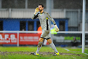 Eastleigh's Ross Flitney during the The FA Cup third round match between Eastleigh and Bolton Wanderers at Silverlake Stadium, Ten Acres, Eastleigh, United Kingdom on 9 January 2016. Photo by Graham Hunt.