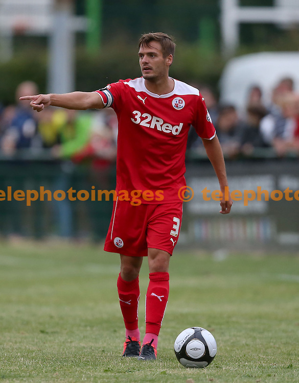 Crawley&rsquo;s captain Ryan Dickson seen during the pre season friendly between Three Bridges and Crawley Town at Jubilee Field in Crawley. July 28, 2014.<br /> James Boardman TELEPHOTO IMAGES