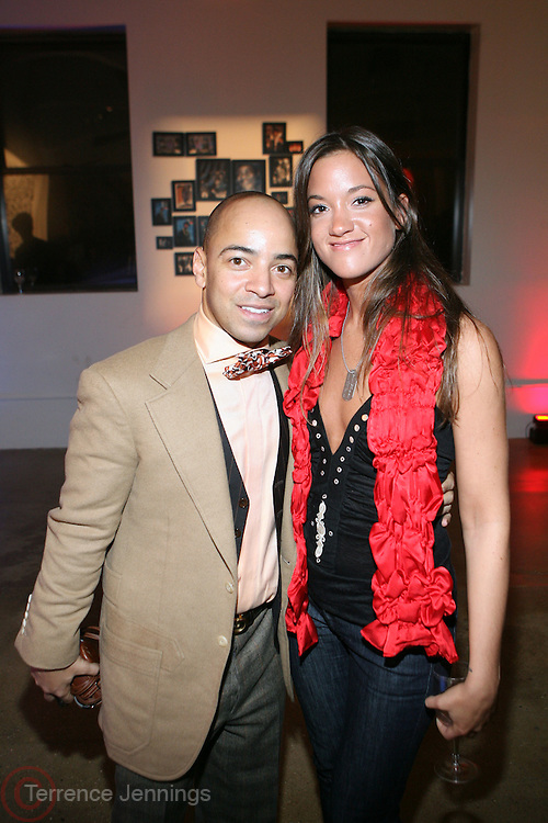 l to r: Derek Dudley and Tenille DeFreitas at the Common Celebration for the Capsule Line Launch with Softwear by Microsoft at Skylight Studios on December 3, 2008 in New York City..Microsoft celebrates the launch of a limited-edition capsule collection of SOFTWEAR by Microsoft graphic tees designed by Common. The t-shirt  designs. inspired by the 1980's when both Microsoft and and Hip Hop really came of age, include iconography that depicts shared principles of the technology company and the Hip Hop Star.
