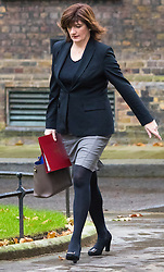 Downing Street, London, November 17th 2015. Education Secretary Nicky Morgan arrives at Downing Street for the weekly cabinet meeting.