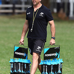 DURBAN, SOUTH AFRICA, 7 April, 2016 - Johan Pretorius Head Strength & Conditioning Coach during The Cell C Sharks training session and Media Media conference  at Growthpoint Kings Park in Durban, South Africa. (Photo by Steve Haag)<br /> images for social media must have consent from Steve Haag