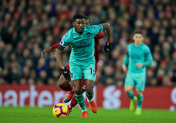 LIVERPOOL, ENGLAND - Saturday, December 29, 2018: Arsenal's Ainsley Maitland-Niles during the FA Premier League match between Liverpool FC and Arsenal FC at Anfield. (Pic by David Rawcliffe/Propaganda)