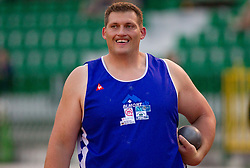 Miro Vodovnik during shot put at Slovenian National Championships in athletics 2010, on July 17, 2010 in Velenje, Slovenia. (Photo by Vid Ponikvar / Sportida)