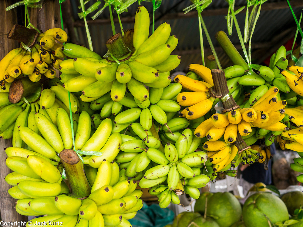 29 SEPTEMBER 2012 - NAKORN NAYOK, THAILAND: Bananas for sale in a market in  Nakorn Nayok, Thailand.  PHOTO BY JACK KURTZ