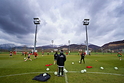 ZENICA, BOSNIA AND HERZEGOVINA - Monday, November 27, 2017: Wales player during a training session ahead of the FIFA Women's World Cup 2019 Qualifying Round Group 1 match against Bosnia and Herzegovina at the FF BH Football Training Centre. (Pic by David Rawcliffe/Propaganda)