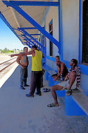 Train station in Batabano, Mayabeque, Cuba.