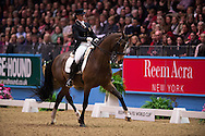 Lillian Jebsen (NOR) & Pro-Set - Grand Prix Freestyle - Reem Acra FEI World Cup Dressage Qualifier - The London International Horse Show Olympia - Olympia, London, United Kingdom - 18 December 2012