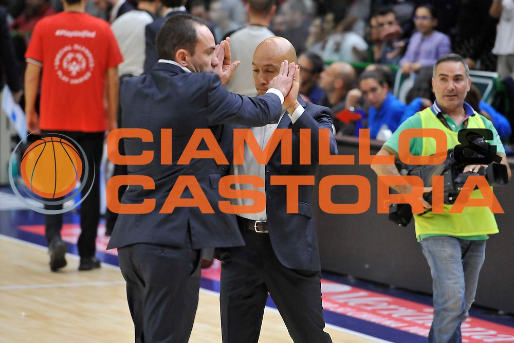 DESCRIZIONE : Campionato 2014/15 Dinamo Banco di Sardegna Sassari - Olimpia EA7 Emporio Armani Milano<br /> GIOCATORE : Paolo Citrini Stefano Sardara<br /> CATEGORIA : Fair Play<br /> SQUADRA : Dinamo Banco di Sardegna Sassari<br /> EVENTO : LegaBasket Serie A Beko 2014/2015<br /> GARA : Dinamo Banco di Sardegna Sassari - Olimpia EA7 Emporio Armani Milano<br /> DATA : 07/12/2014<br /> SPORT : Pallacanestro <br /> AUTORE : Agenzia Ciamillo-Castoria / Luigi Canu<br /> Galleria : LegaBasket Serie A Beko 2014/2015<br /> Fotonotizia : Campionato 2014/15 Dinamo Banco di Sardegna Sassari - Olimpia EA7 Emporio Armani Milano<br /> Predefinita :