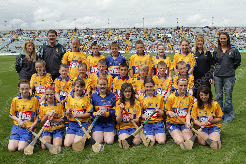 Clare Go Games Primary Boys &amp; Girls who took part at halftime during the Munster Senior semi final.<br /> Photograph by Flann Howard