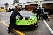 January 22-26, 2020. IMSA Weathertech Series. Rolex Daytona 24hr. GRT Grasser Racing Team Lamborghini Huracan GT3, Orange 1 Racing, GTD mechanics