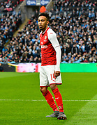 Pierre-Emerick Aubameyang (14) of Arsenal during the EFL Cup Final match between Arsenal and Manchester City at Wembley Stadium, London, England on 25 February 2018. Picture by Graham Hunt.