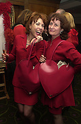 Kathy Lette and Baroness Elena Kennedy. The Vagina Monologues first night at the New Ambassador Theatre and afterwards at the ivy. © Copyright Photograph by Dafydd Jones 66 Stockwell Park Rd. London SW9 0DA Tel 020 7733 0108 www.dafjones.com