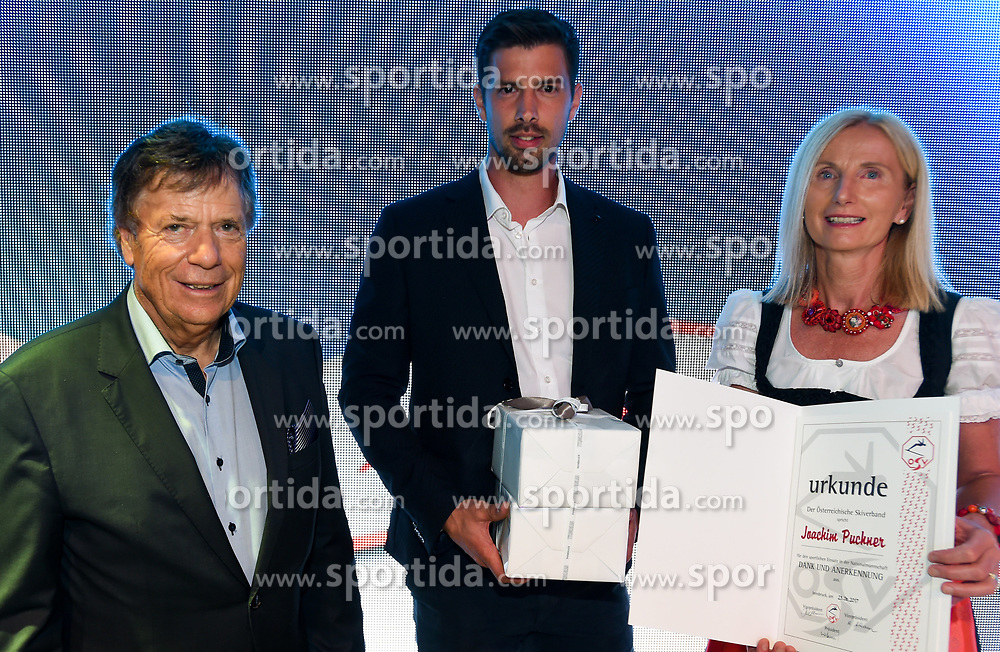 23.06.2017, Saalbach Hinterglemm, AUT, OeSV, Präsidentenkonferenz, Festabend, im Bild Verabschiedung Joachim Pucher // during the Austrian Skifederation Presidential Conference Gala in Saalbach Hinterglemm, Austria on 2017/06/23. EXPA Pictures © 2017, PhotoCredit: EXPA/ Erich Spiess