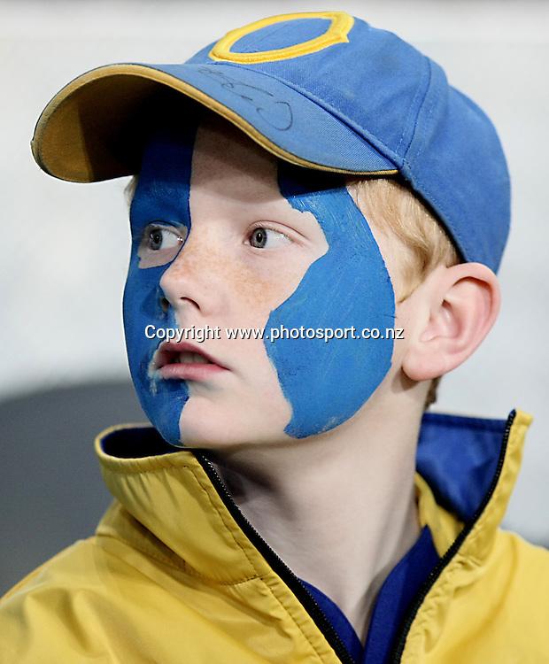 Highlander supporter at the Super 15 rugby match, Highlanders v Chiefs, Forsyth Barr Stadium, Dunedin, New Zealand, Friday, June 27, 2014. Photo: Dianne Manson / www.photosport.co.nz