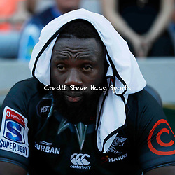Tendai Mtawarira of the Cell C Sharks during the Super rugby match between The Cell C Sharks and the Vodacom Bulls at Jonsson Kings Park Stadium in Durban, South Africa 30 March 2019 (Mandatory Byline Steve Haag)