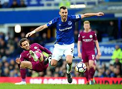 Bernardo Silva of Manchester City fouls Morgan Schneiderlin of Everton - Mandatory by-line: Robbie Stephenson/JMP - 31/03/2018 - FOOTBALL - Goodison Park - Liverpool, England - Everton v Manchester City - Premier League