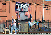"Seen with a long lens from Pajaro Street and Market in Salinas, ""The Forgotten"" is at least thirty feet long and was installed by art group C3 using a scissor jack. Homelessness in Salinas remains an intractable problem."