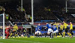 Everton's Antolin Alcaraz goes close with a header - Photo mandatory by-line: Matt McNulty/JMP - Mobile: 07966 386802 - 26/02/2015 - SPORT - Football - Liverpool - Goodison Park - Everton v Young Boys - UEFA EUROPA LEAGUE ROUND OF 32 SECOND LEG