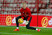 Sunderland goalkeeper Jason Steele (1) warming up  during the EFL Sky Bet Championship match between Sunderland and Bolton Wanderers at the Stadium Of Light, Sunderland, England on 31 October 2017. Photo by Simon Davies.