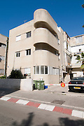 Israel, Tel Aviv, Renovated Bauhaus building at 31 Mazeh Street UNESCO has declared Tel Aviv an international heritage site because of the abundance of the Bauhaus architectural style