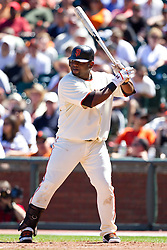 May 30, 2010; San Francisco, CA, USA;  San Francisco Giants third baseman Pablo Sandoval (48) at bat against the Arizona Diamondbacks during the seventh inning at AT&T Park.  San Francisco defeated Arizona 6-5 in 10 innings.