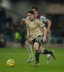 Daniel James of Manchester United and Jack Cork of Burnley (L) in action - Mandatory by-line: Jack Phillips/JMP - 28/12/2019 - FOOTBALL - Turf Moor - Burnley, England - Burnley v Manchester United - English Premier League