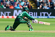 Mushfiqur Rahim (wk) of Bangladesh plays a reverse sweep shot during the ICC Cricket World Cup 2019 match between England and Bangladesh the Cardiff Wales Stadium at Sophia Gardens, Cardiff, Wales on 8 June 2019.