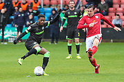 Forest Green Rovers Reece Brown(10) controls the ball during the EFL Sky Bet League 2 match between Crewe Alexandra and Forest Green Rovers at Alexandra Stadium, Crewe, England on 27 April 2019.