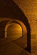 Room of arches and shadows at Fort Pulaski, Savannah, Georgia