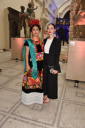"Salma Hayek and Frida Escobedo at the opening of ""Frida Kahlo: Making Her Self Up"" Exhibition at the V&A Museum, London England. 13 June 2018."