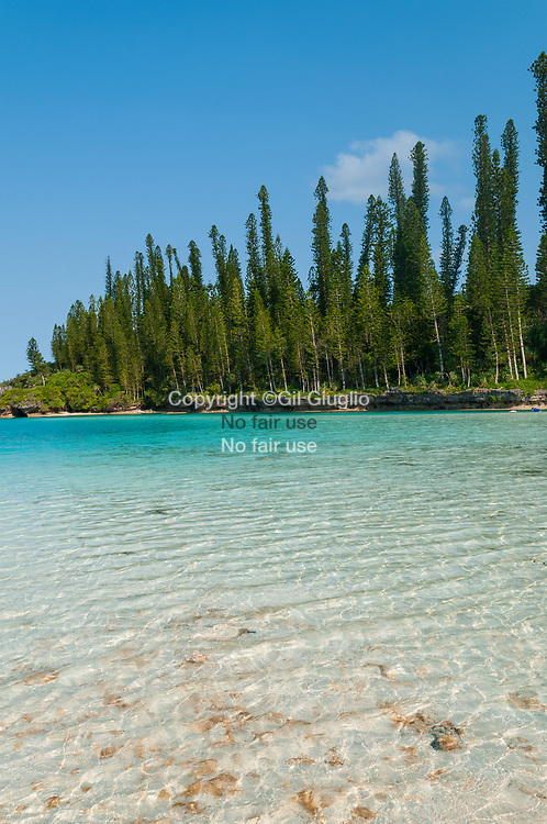 Nouvelle Calédonie, Province sud,  Île des Pins, piscine naturelle d'Oro sur territoire tribu de Touété // New Caledonia, French Pacific territory, Province sud, Île of Pins, natural pool of Oro on territory of Touete trib