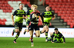 Mat Protheroe of Bristol Rugby makes a brea - Mandatory by-line: Alex Davidson/JMP - 08/12/2017 - RUGBY - Ashton Gate Stadium - Bristol, England - Bristol Rugby v Leinster 'A' - B&I Cup