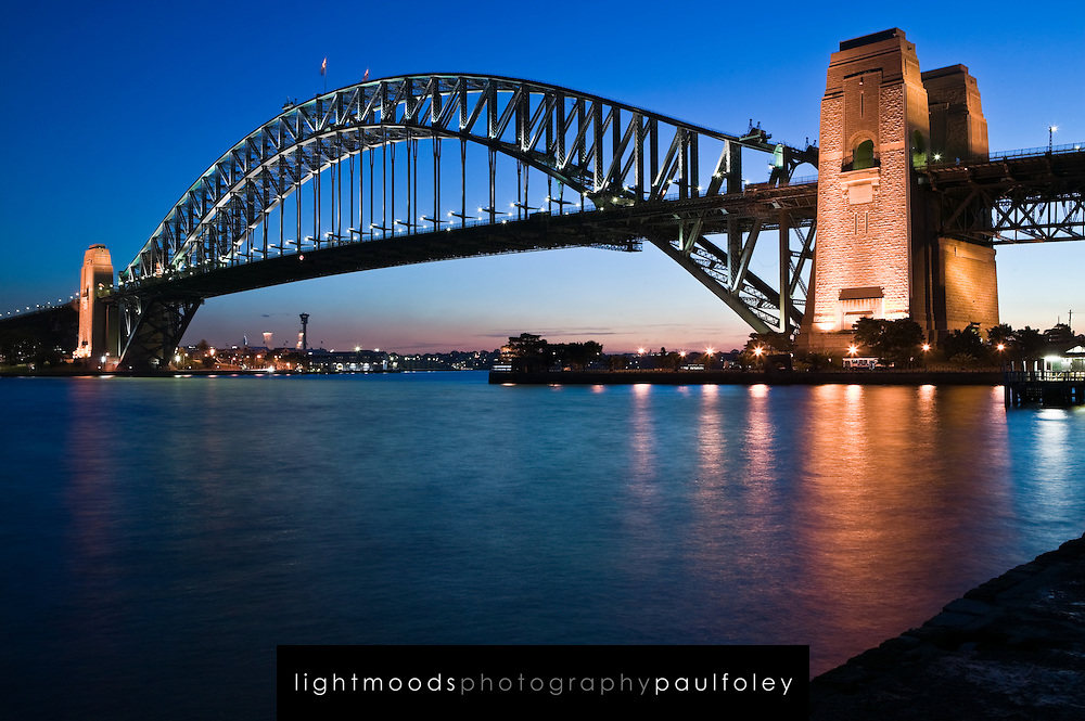 Sydney Harbour Bridge at dusk, Australia