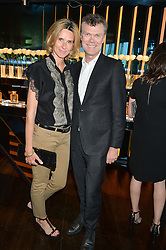 PIERRE DENIS he is CEO of Jimmy Choo Ltd  and PIA DENIS at the launch of Illicit by Jimmy Choo - a new fragrance faced by Sky Ferreira, held at Mondrian London, 20 Upper Ground, London on 3rd June 2015.