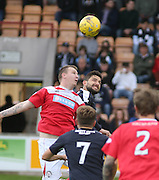 Kostadin Gadzhalov in aerial duel with Andy Jackson - Brechin City v Dundee, pre-season friendly at Starks Park<br /> <br />  - &copy; David Young - www.davidyoungphoto.co.uk - email: davidyoungphoto@gmail.com