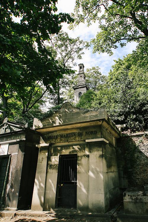 Pere Lachaise Cemetery mosileum, Paris, France