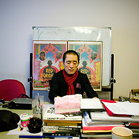 BBEIJING, JANUARY 14, 2010: Film director Zhang Yimou in his office .