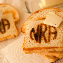 Nita Tune's National Rifle Association (NRA) toaster, photographed in Gardnerville, Nev., Wednesday, Dec. 21, 2011...Photo by David Calvert