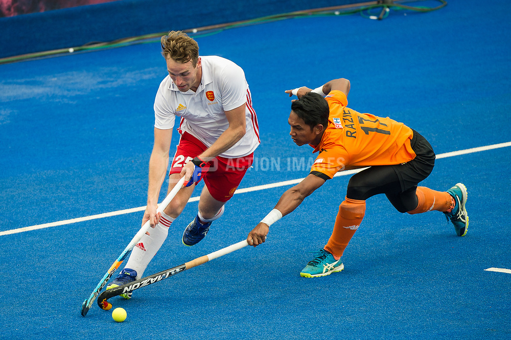 Chris Griffiths. England v Malaysia - 3rd/4th Playoff - Hockey World League Semi Final, Lee Valley Hockey and Tennis Centre, London, United Kingdom on 25 June 2017. Photo: Simon Parker