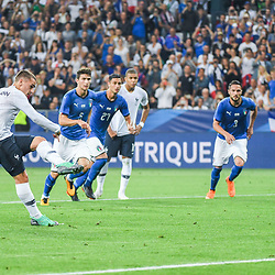Antoine Griezmann of France scores a penalty during the International Friendly match between France and Italy at Allianz Riviera Stadium on June 1, 2018 in Nice, France. (Photo by Anthony Dibon/Icon Sport)