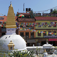 Asia, Nepal, Kathmandu. Bodnath Stupa temple, a UNESCO World Heritage Site.