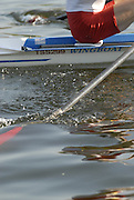 Hazenwinkel, BELGIUM,  in the last stroke of the morning time trial, at the GB Rowing Senior Trials, on Sun,15.04.2007  [Credit, Peter Spurrier/Intersport-images]   [Mandatory Credit, Peter Spurier/ Intersport Images]. , Rowing Course, Bloso, Hazewinkel. BELGUIM