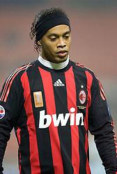Ronaldinho reflects. Milan v Lazio, Italy, 3-12-2008