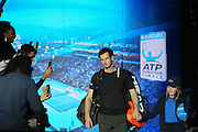 Andy Murray (Great Britain) walks to court during the final of the Barclays ATP World Tour Finals at the O2 Arena, London, United Kingdom on 20 November 2016. Photo by Phil Duncan.