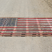 Patriotic Cattle Guard, Spencer, Idaho